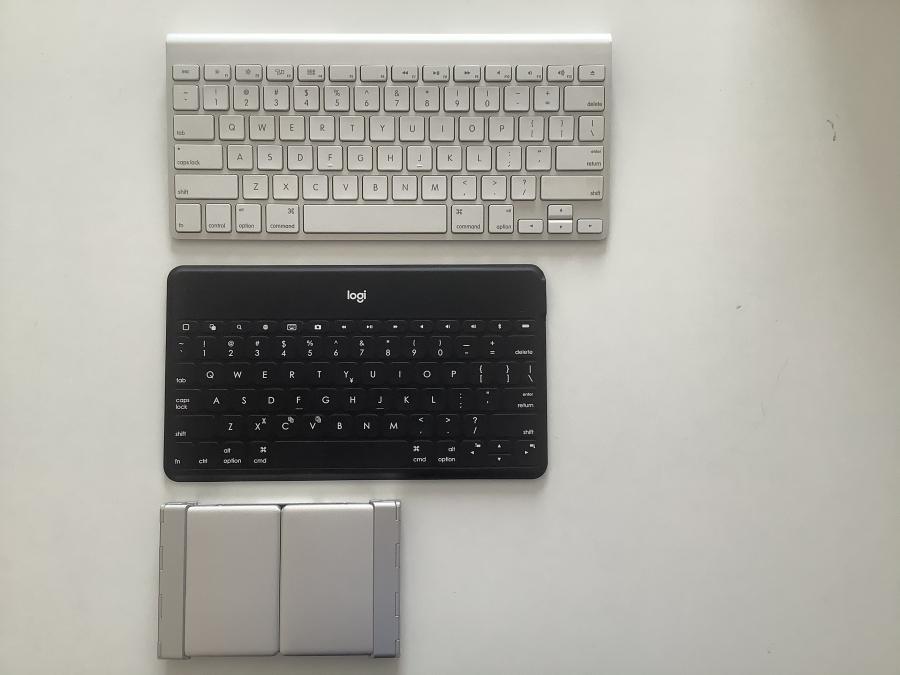 モバイルキーボードサイズ比較